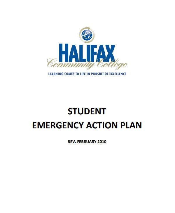student emergency action plan