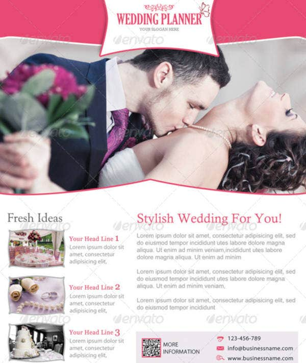 Stylish Wedding Planner Flyer Template