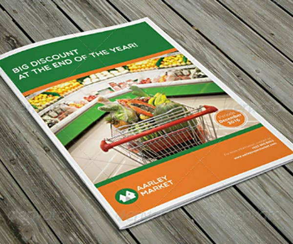 Supermarket Consumer Products Brochure Template
