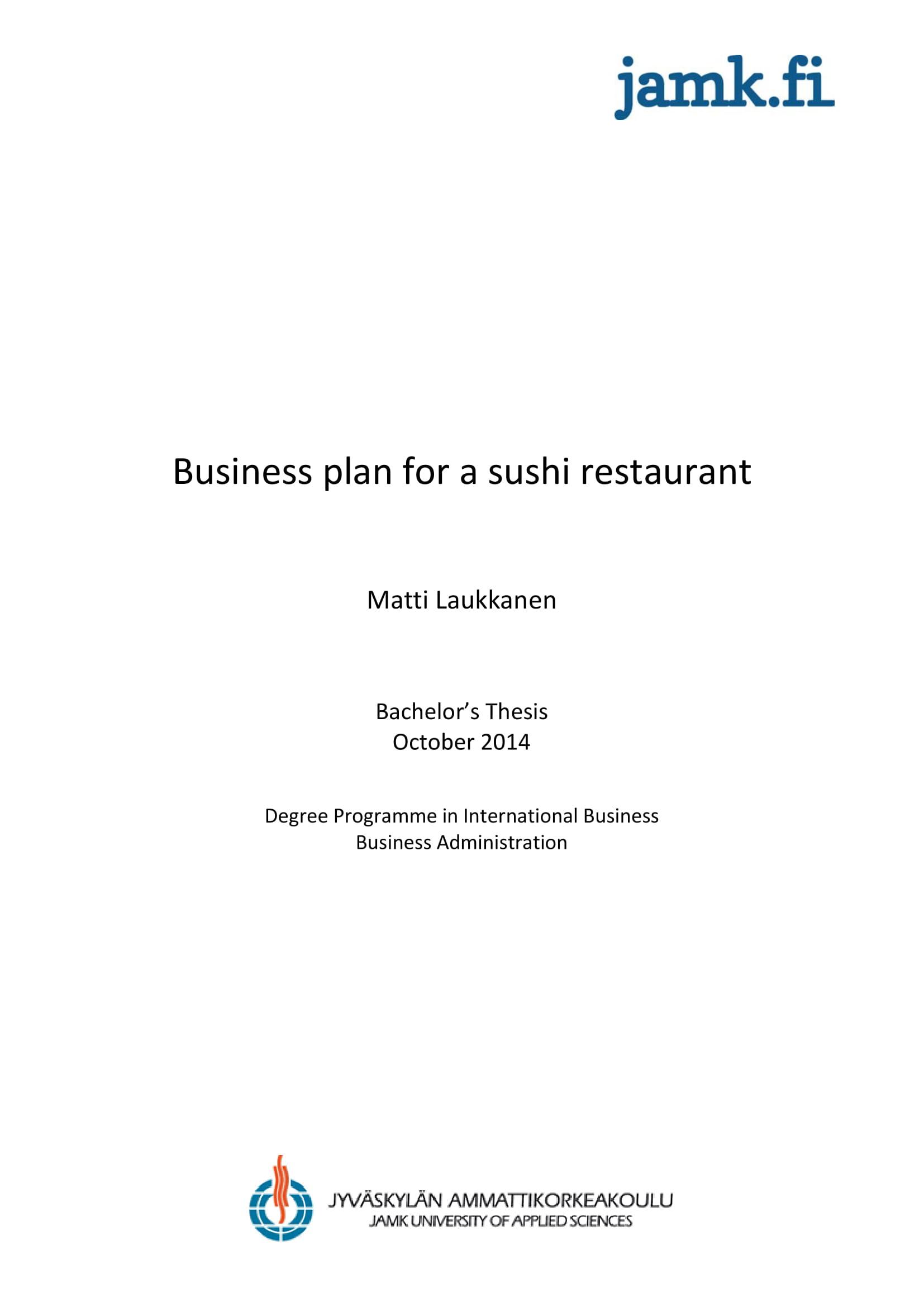 sushi restaurant marketing plan