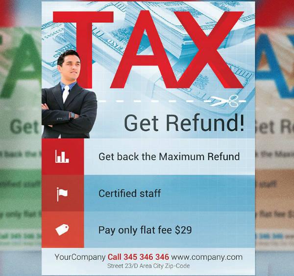 Tax Refunds Financial Flyer Template