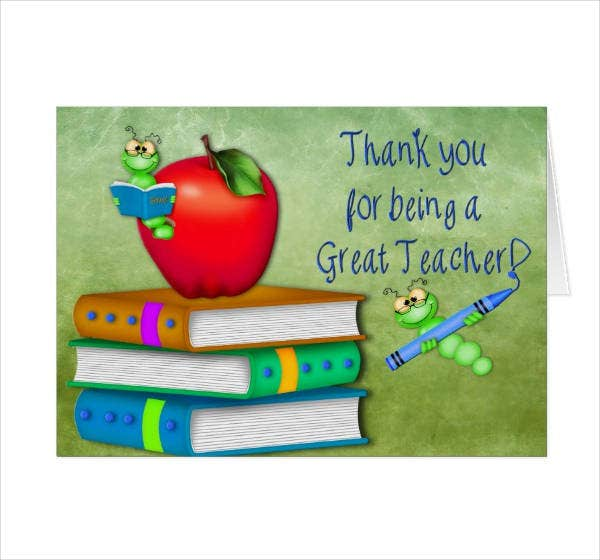 Teacher Thank You Card Design