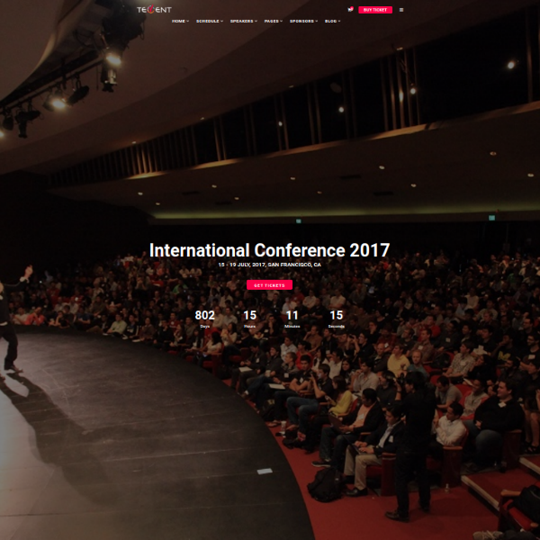 Tevent Conference Website Template