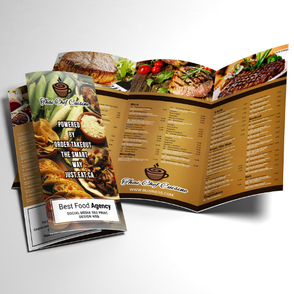 Thai Restaurant Trifold Brochure Template