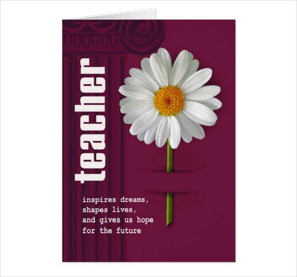 Thank You Teacher Greeting Card
