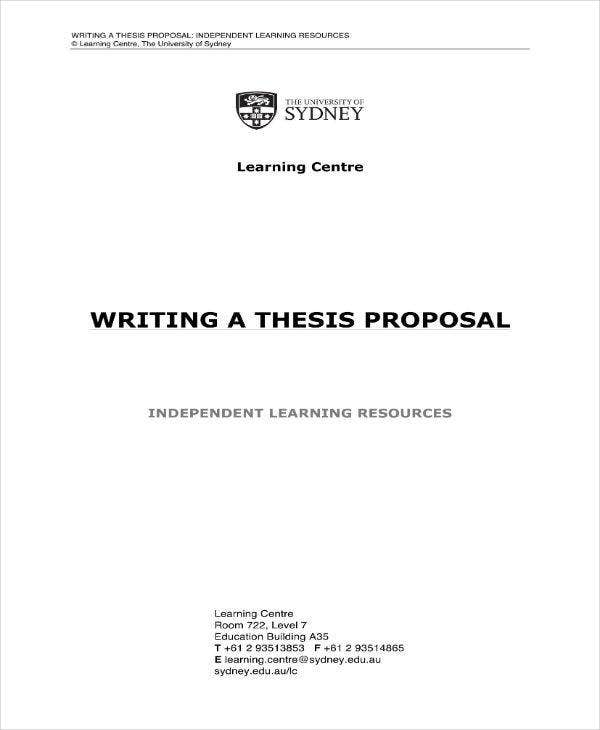 Thesis Proposal Guide Sample