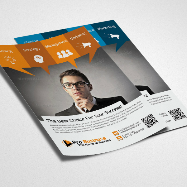 Thinking Man Business Analyst Flyer Template