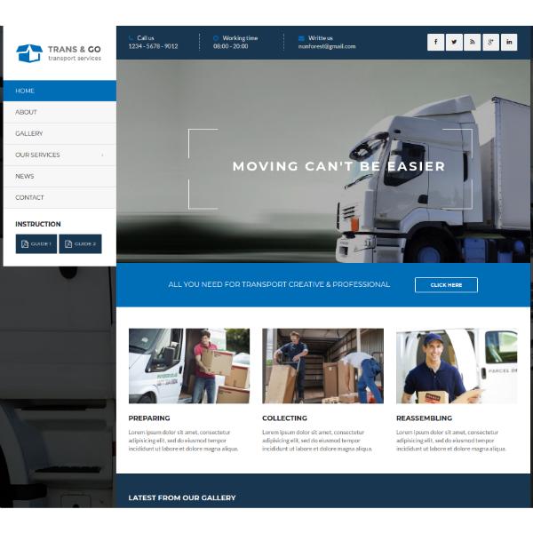 TransGo Logistics Services Website Template