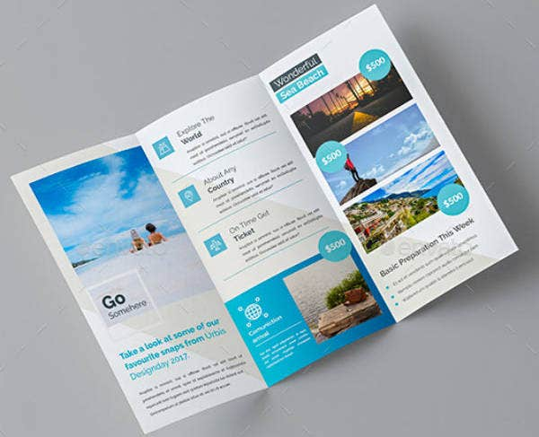 Travel Trifold Brochure Template