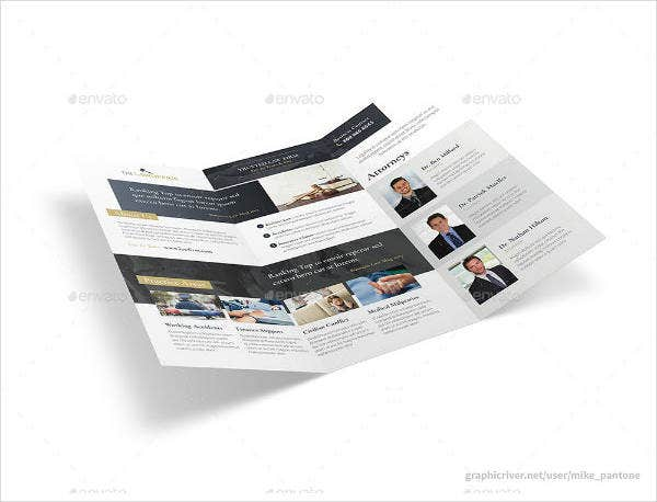 Trifold Attorney Brochure Template