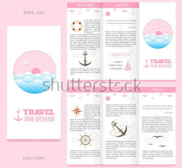 Trifold Cruise Brochure Template