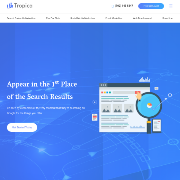Tropica SEO Agency Website Template