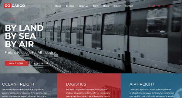 Trucking Logistics Website Template