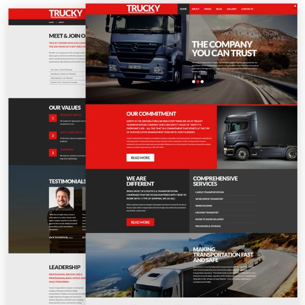 Trucky Logistics Services Website Template