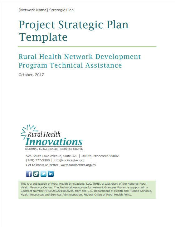 two pages strategic plan example