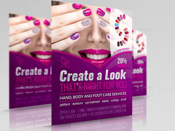 unique-nails-salon-flyer-template