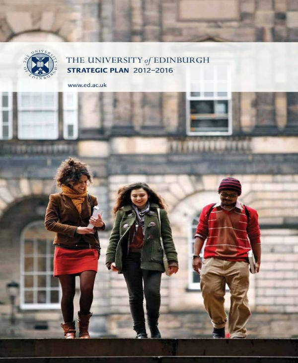 University Edinburgh Strategic Plan Example