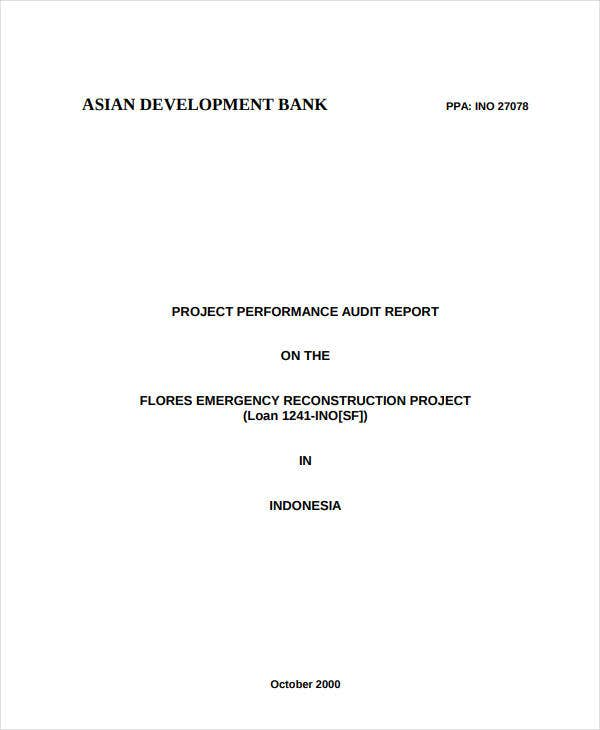 untitledengineering project performance audit report