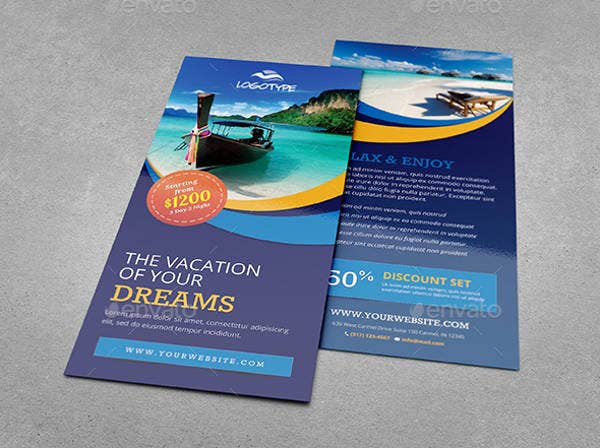 Vacation Rack Card Design