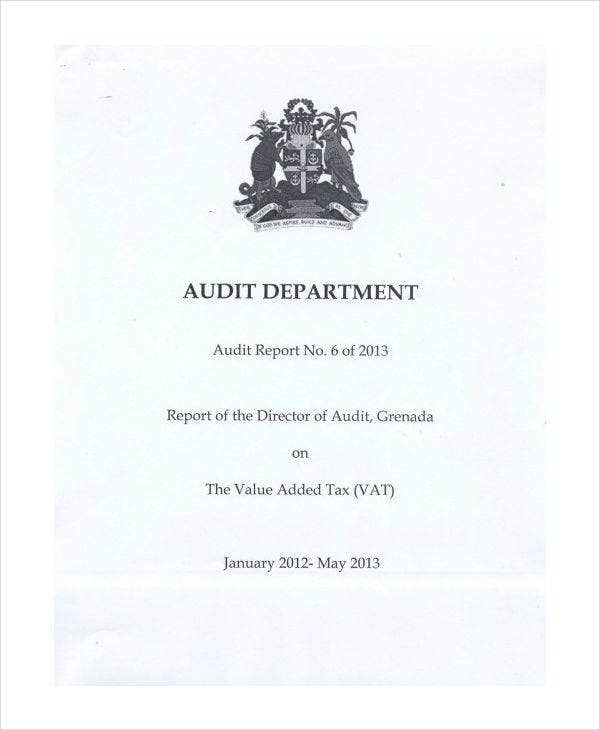 value added tax audit report template