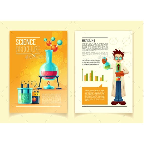 Vector Colorful Template of Science Brochure