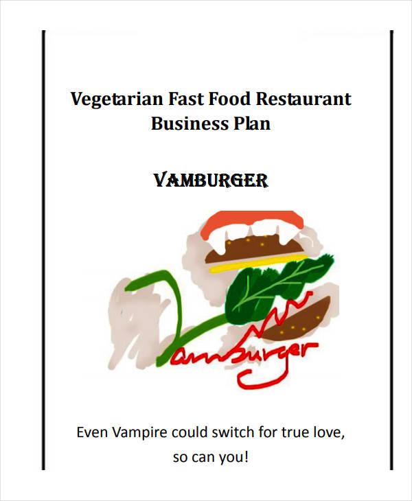 vegetarian fast food restaurant business plan