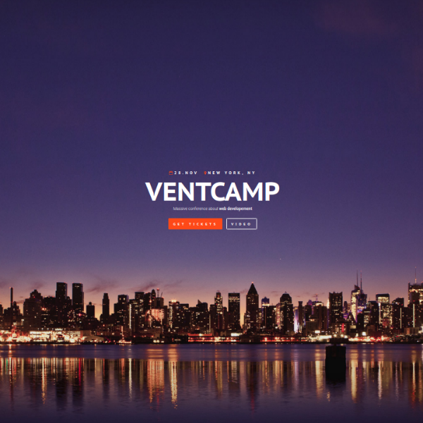 Ventcamp Conference Website Template
