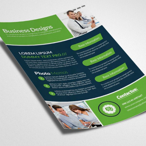 Vibrant Colors Business Analyst Flyer Template