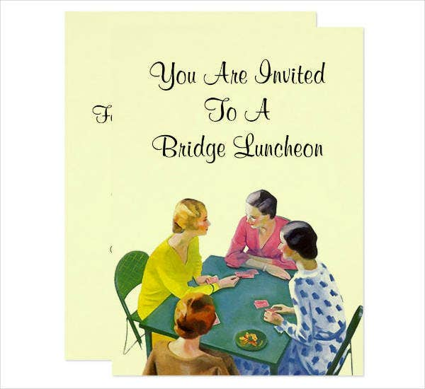 Vintage Luncheon Party Invitation Sample