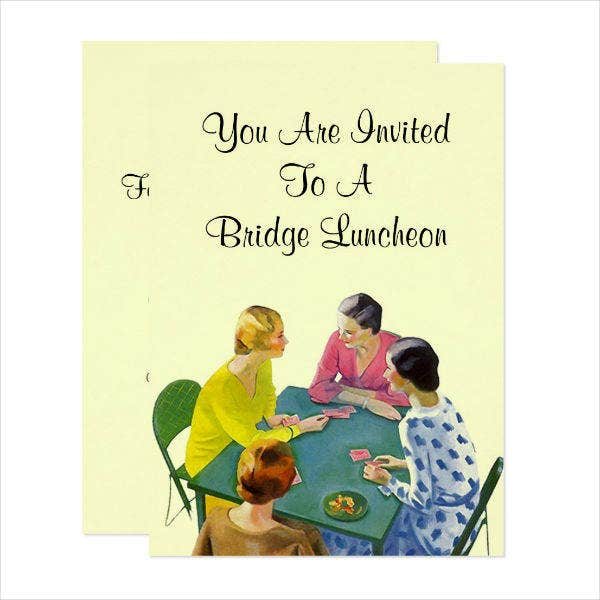 vintage luncheon party invitation template1