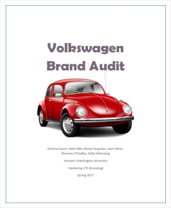 Volkswagen Brand Audit Report