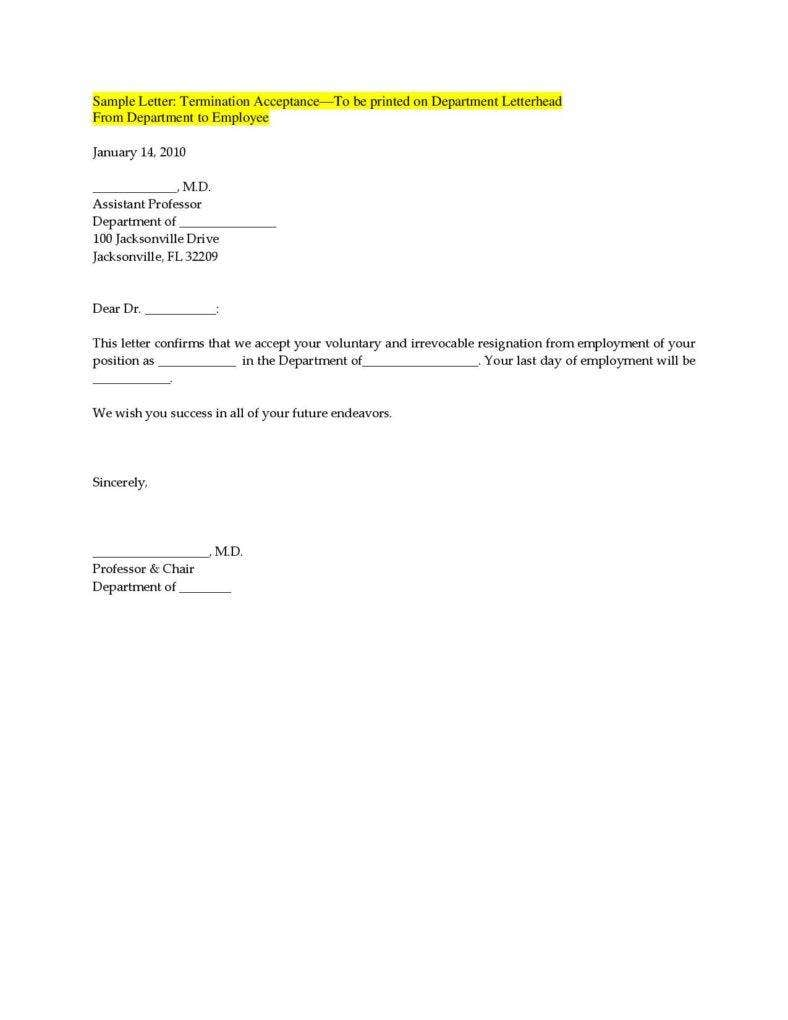 Termination Letter Templates 26 Free Samples Examples Formats