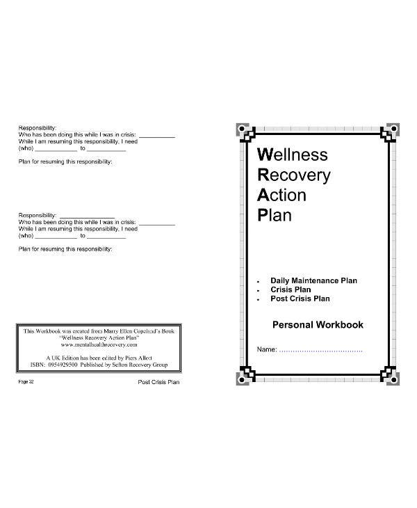 11 Wellness Recovery Action Plan Templates PDF Word