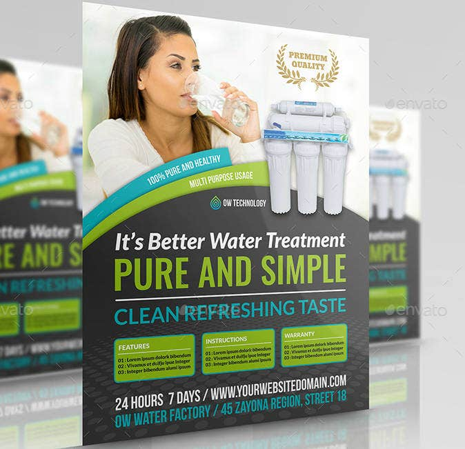 Water Treatment Flyer Template