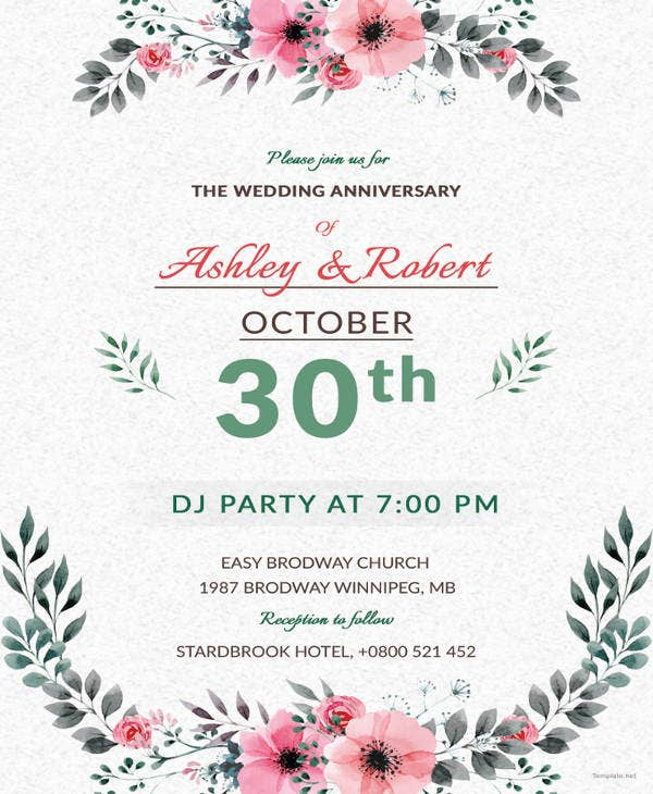 wedding dj party invitation template