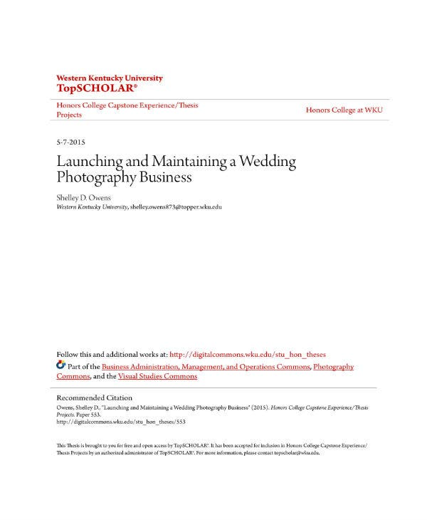 digital photography business plan