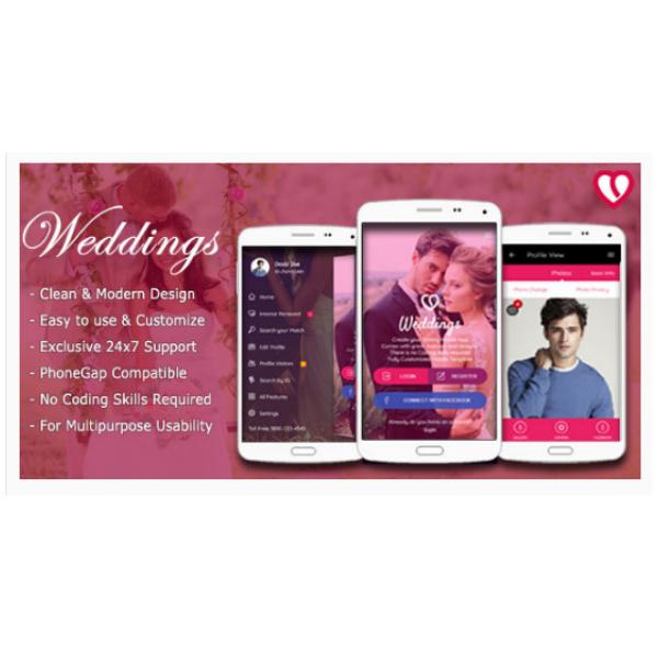 Weddings Mobile Web App Kit