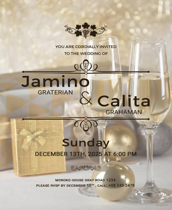 winery wedding invitation template
