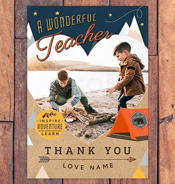 Wonderful Teacher Thank You Card