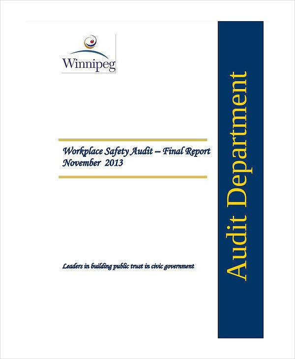 Workplace Safety Audit Report Template