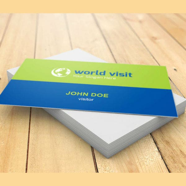 world-visit-visiting-card-template