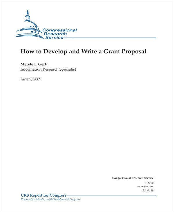 Writing a Grant Proposal Example