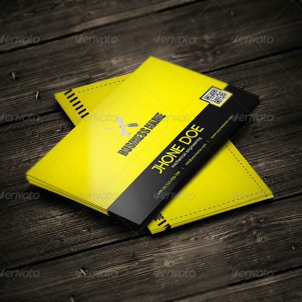 Yellow Engineering Business Card Template