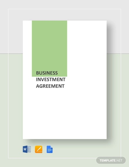 business investement agreement