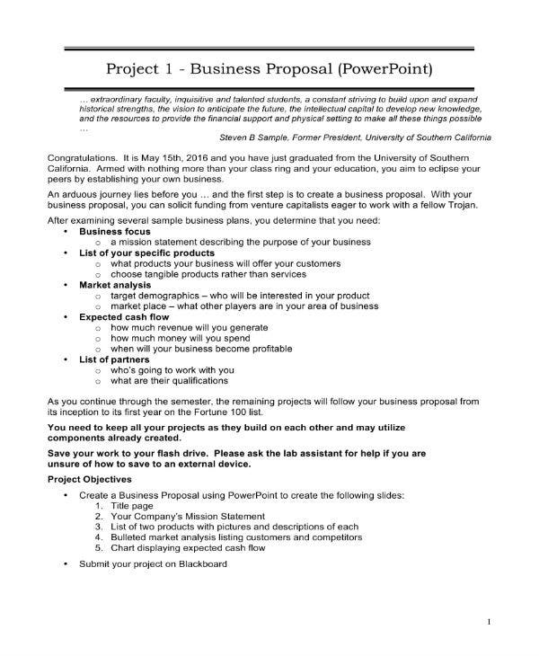 business proposal 1