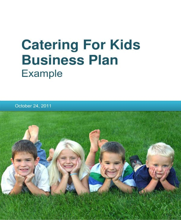 catering for kids business plan 01