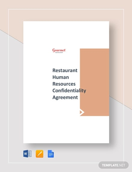 restaurant human resourse confidentiality