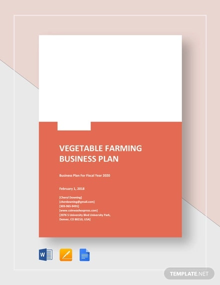 vegetable farming business
