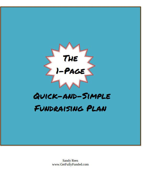 1 page quick and simple fundraising plan