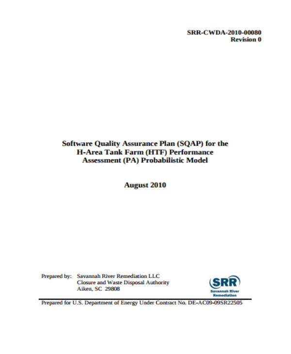 2010 software quality assurance plan